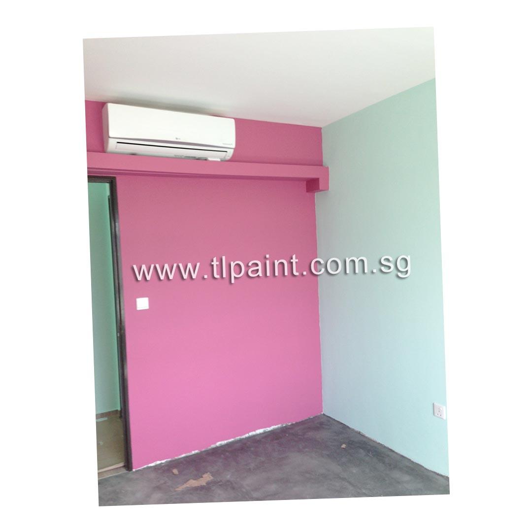 Bold lively stripes for a girl\'s room! | TLPaint.com.sg
